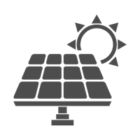 Going Green - Photovoltaic Panels Icon