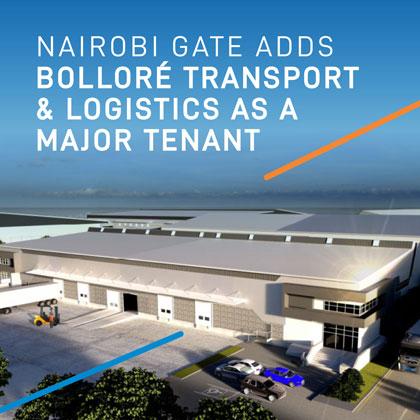 NAIROBI GATE ADDS BOLLORÉ TRANSPORT & LOGISTICS AS A MAJOR TENANT